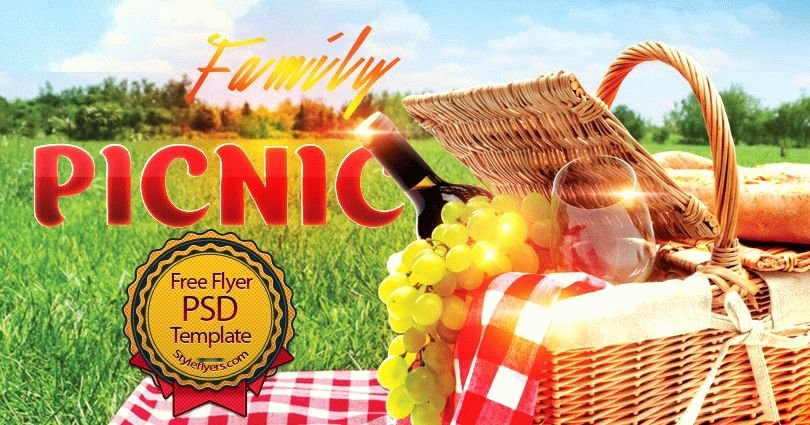Picnic Flyer Template Free Beautiful Family Picknic Psd Flyer Template Free Download 6993