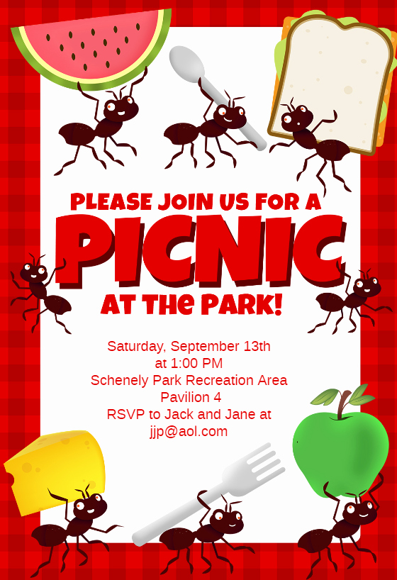 Picnic Flyer Template Free Beautiful Picnic Party Dinner Party Invitation Template Free