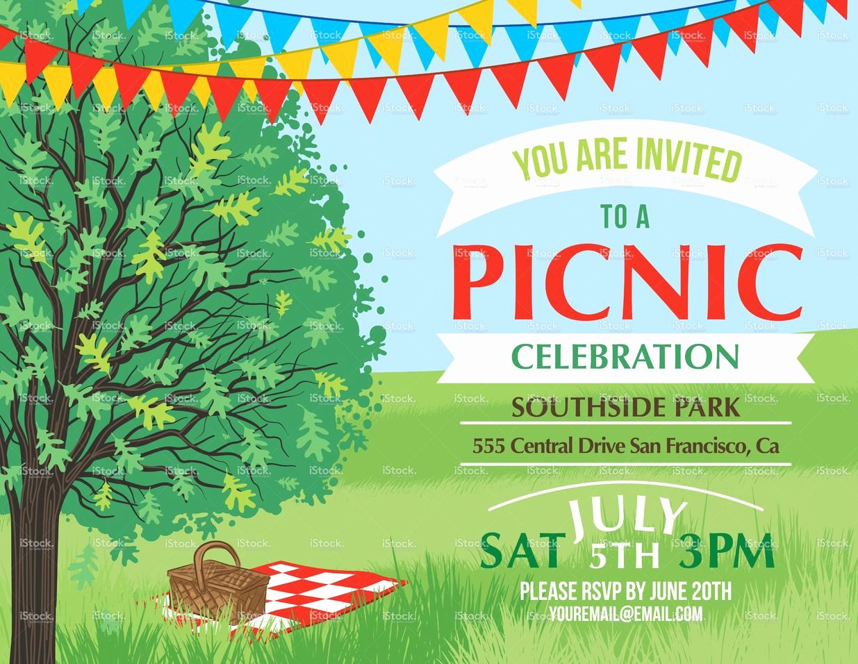 Picnic Flyer Template Free Best Of Summer Picnic and Bbq Invitation Flyer or Template Text