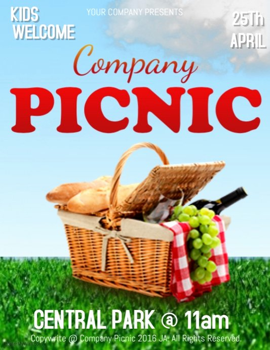 pany picnic flyer template