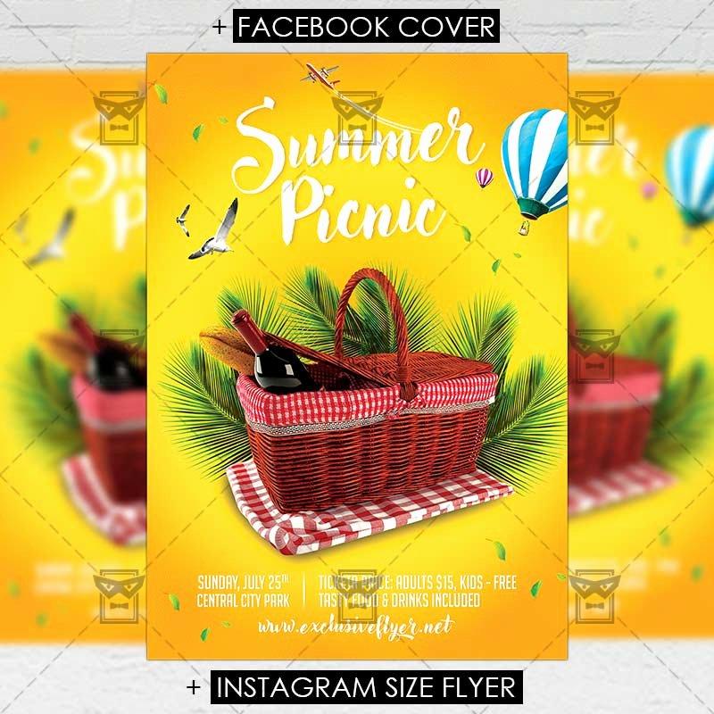 Picnic Flyer Template Free Elegant Picnic – Premium A5 Flyer Template Exclsiveflyer