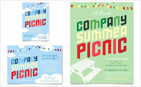 Picnic Flyer Template Free Fresh 14 Amazing Picnic Flyer Templates In Word Psd
