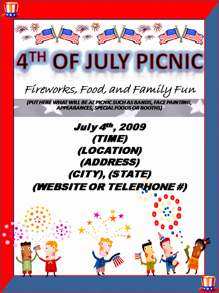 Picnic Flyer Template Free Inspirational 24 Free Picnic Flyer Templates for All Types Of Picnics