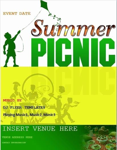 Picnic Flyer Template Free Lovely Picnic Flyer Templates