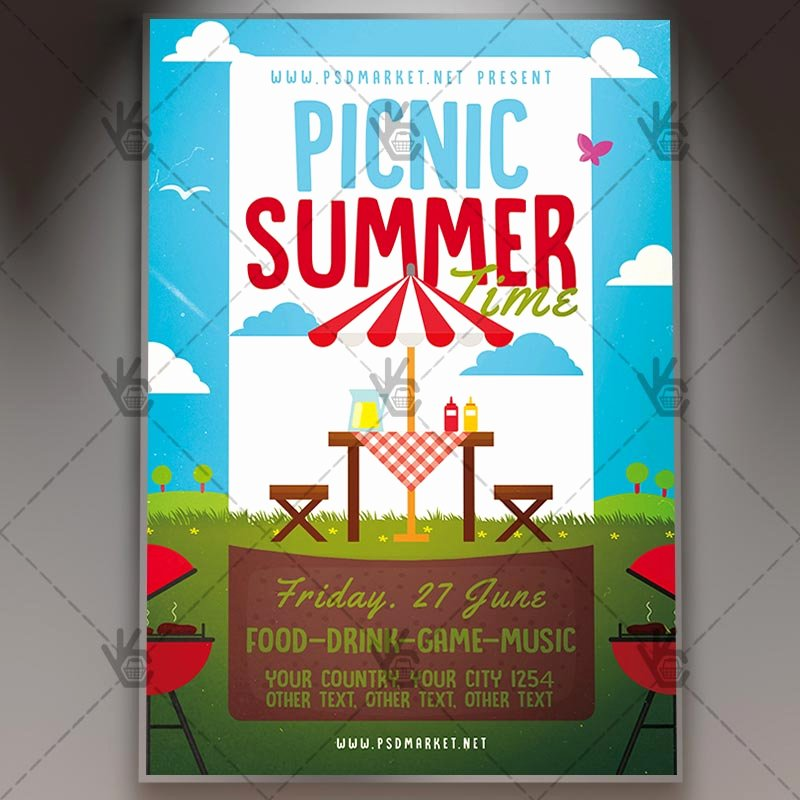 Picnic Flyer Template Free Luxury Download Picnic Time Flyer Psd Template