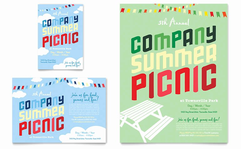Picnic Flyer Template Free Luxury Pany Summer Picnic Flyer & Ad Template Word & Publisher