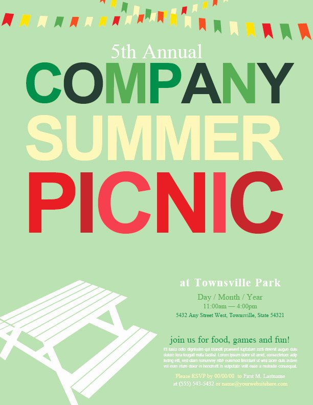 Picnic Flyer Template Free New Pany Picnic Background to Pin On Pinterest