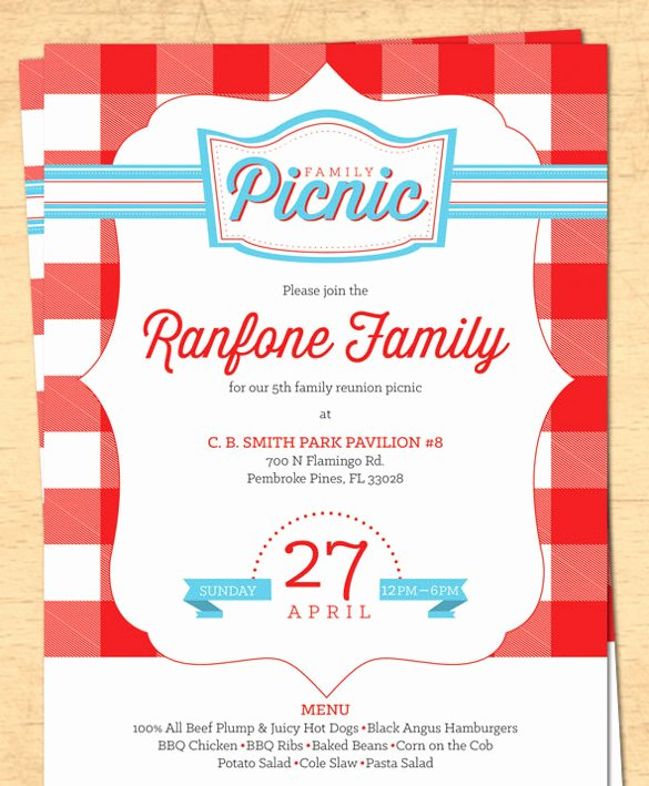 Picnic Invitation Template Free Beautiful 26 Picnic Invitation Templates Psd Word Ai