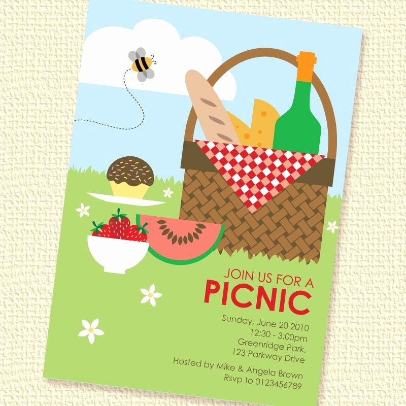 Picnic Invitation Template Free Beautiful Picnic Invitation