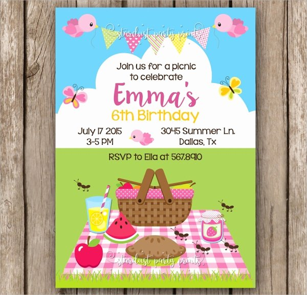 Picnic Invitation Template Free Inspirational 10 Picnic Invitation Templates
