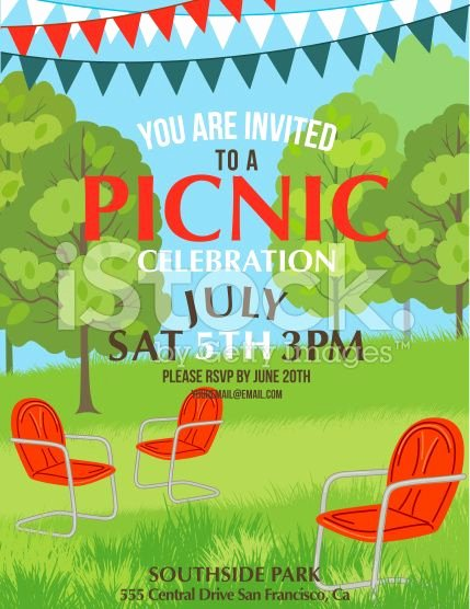 Picnic Invitation Template Free Inspirational Summer Picnic Party Invitation Template Royalty Free Stock