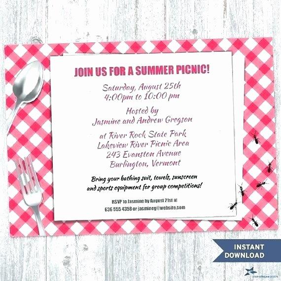 Picnic Invite Template Free Beautiful Picnic Invitations Templates Invitation Blank Flyer