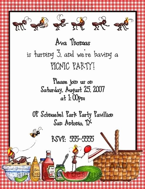 Picnic Invite Template Free Best Of 25 Best Ideas About Picnic Invitations On Pinterest