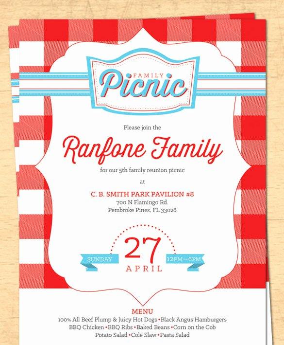 Picnic Invite Template Free Fresh 26 Picnic Invitation Templates Psd Word Ai