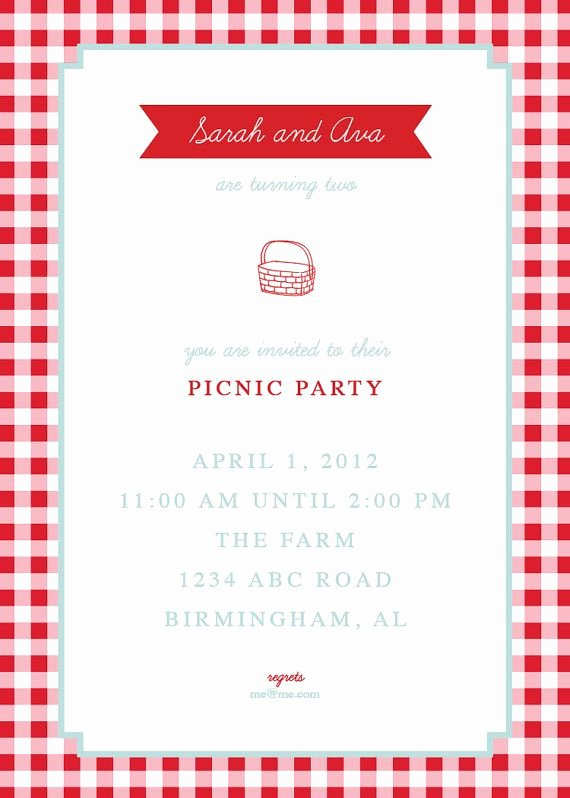 Picnic Invite Template Free Inspirational Picnic Invite by thepinwheelpress On Etsy $15 00