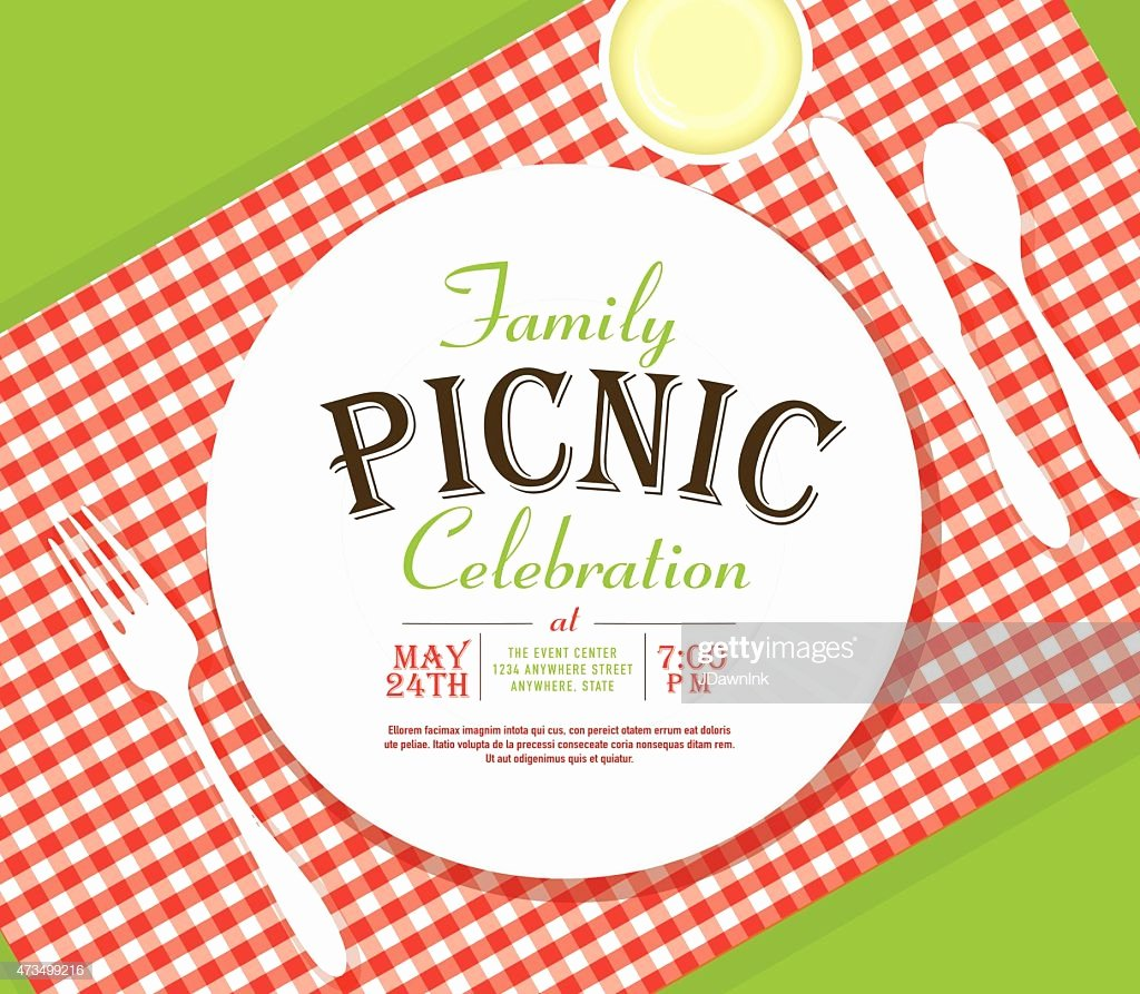 Picnic Invite Template Free Lovely Picnic Invitation Design Template Angle Placesetting