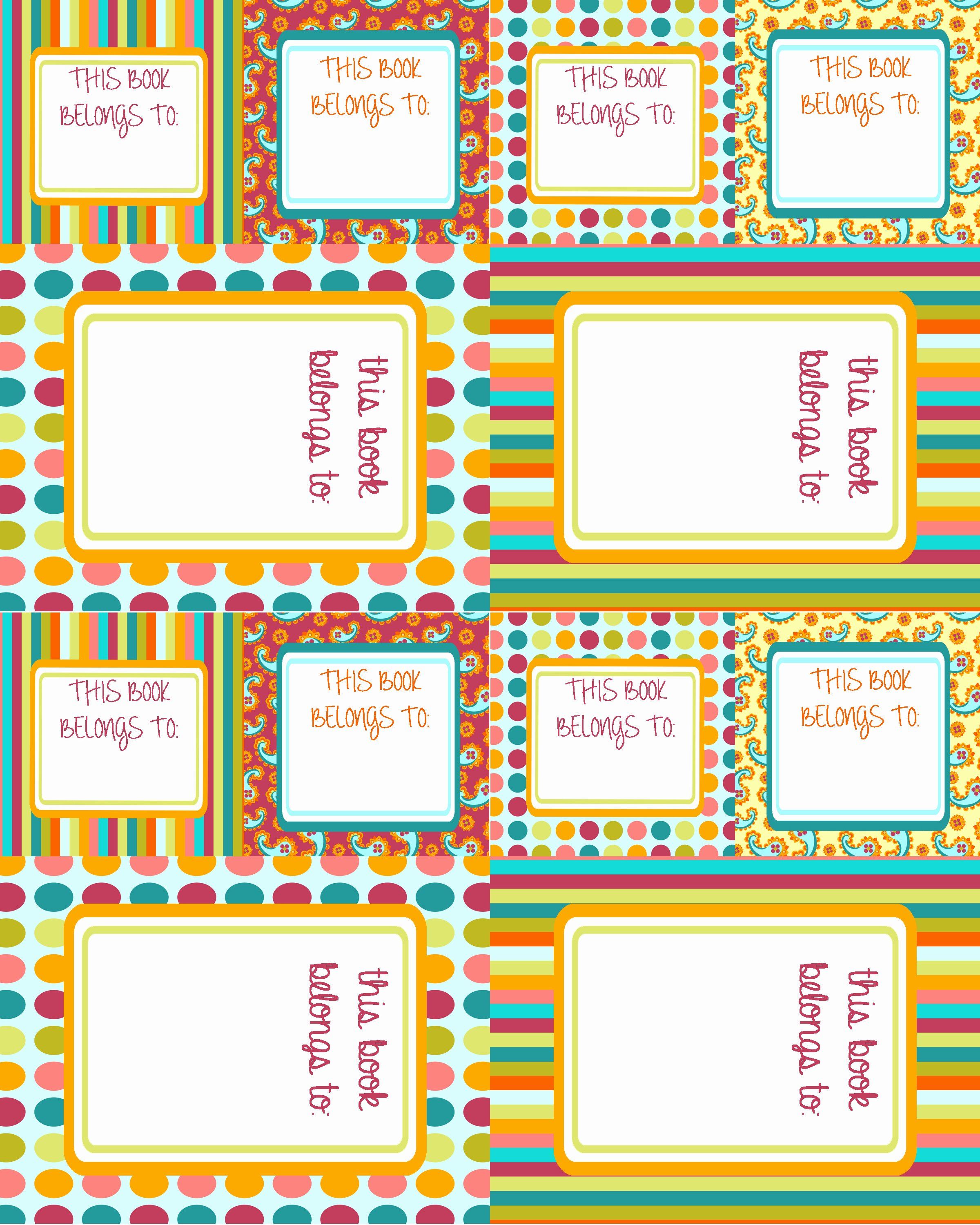 Picture Book Template Printable Beautiful 6 Best Of Free Printable Book Labels School Book