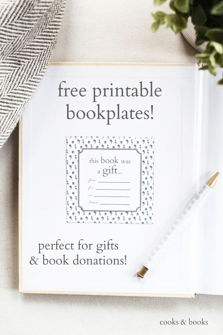 Picture Book Template Printable Best Of Printable Bookplates for Donated Books