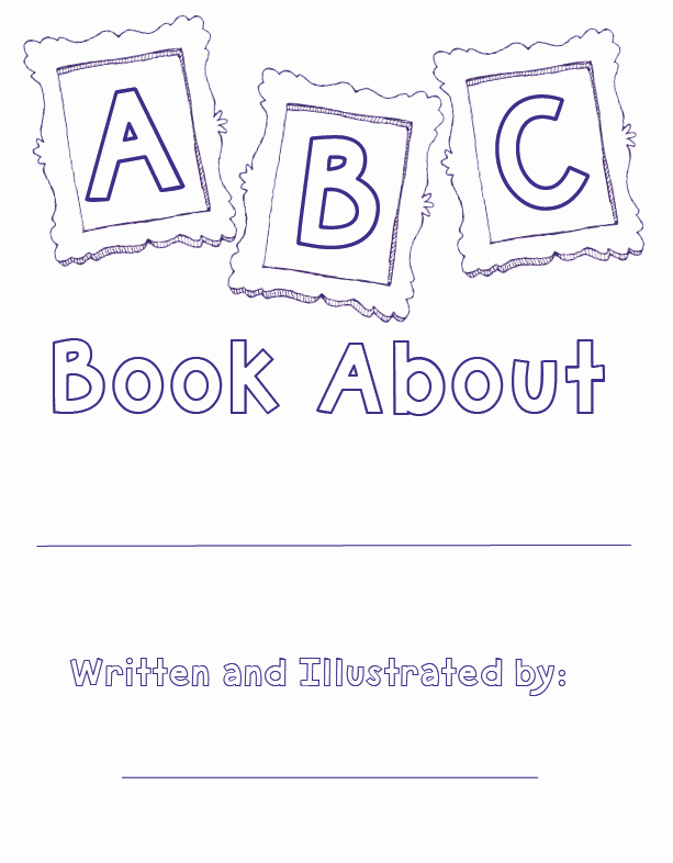 Picture Book Template Printable Fresh Printable Abc Book Pdf Printable Pages
