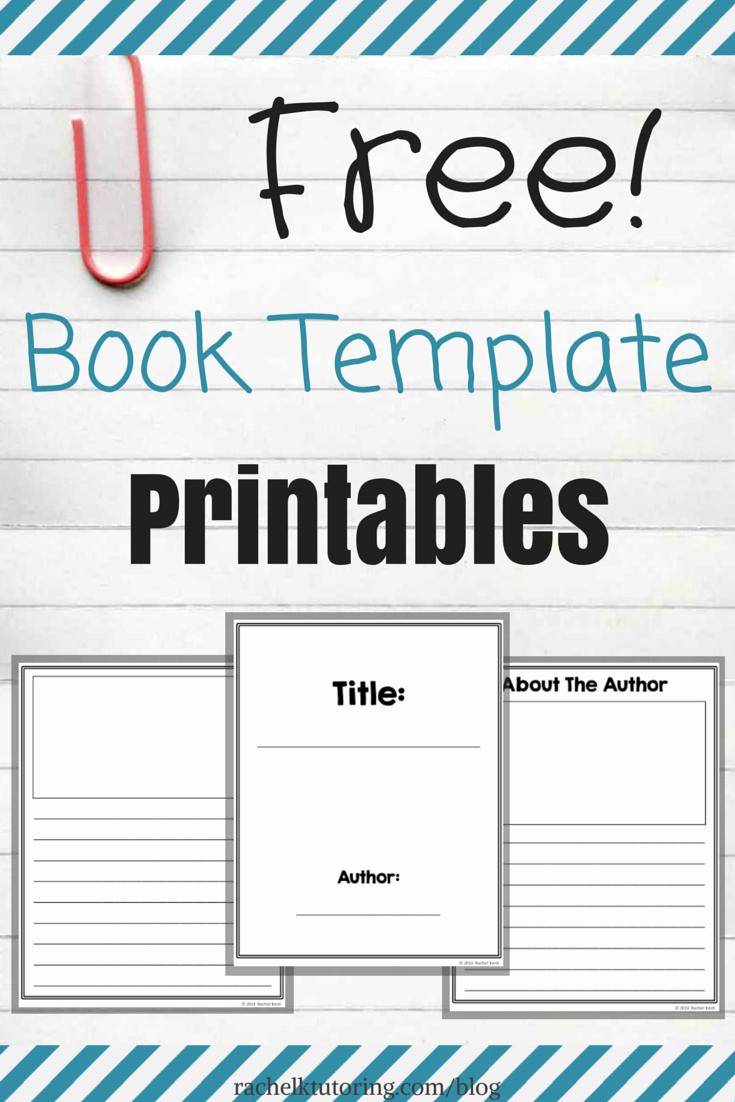 Picture Book Template Printable New Free Book Template Printables Rachel K Tutoring Blog