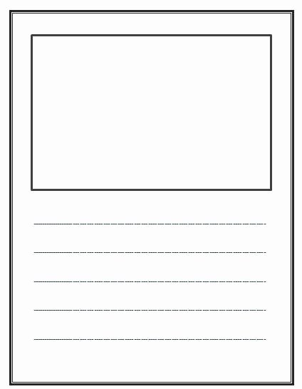 Picture Book Template Printable New Write and Draw Lined Paper with Space for Story