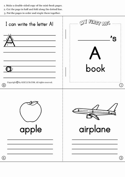Picture Book Template Printable Unique Learning the Alphabet and Initial sounds Collection