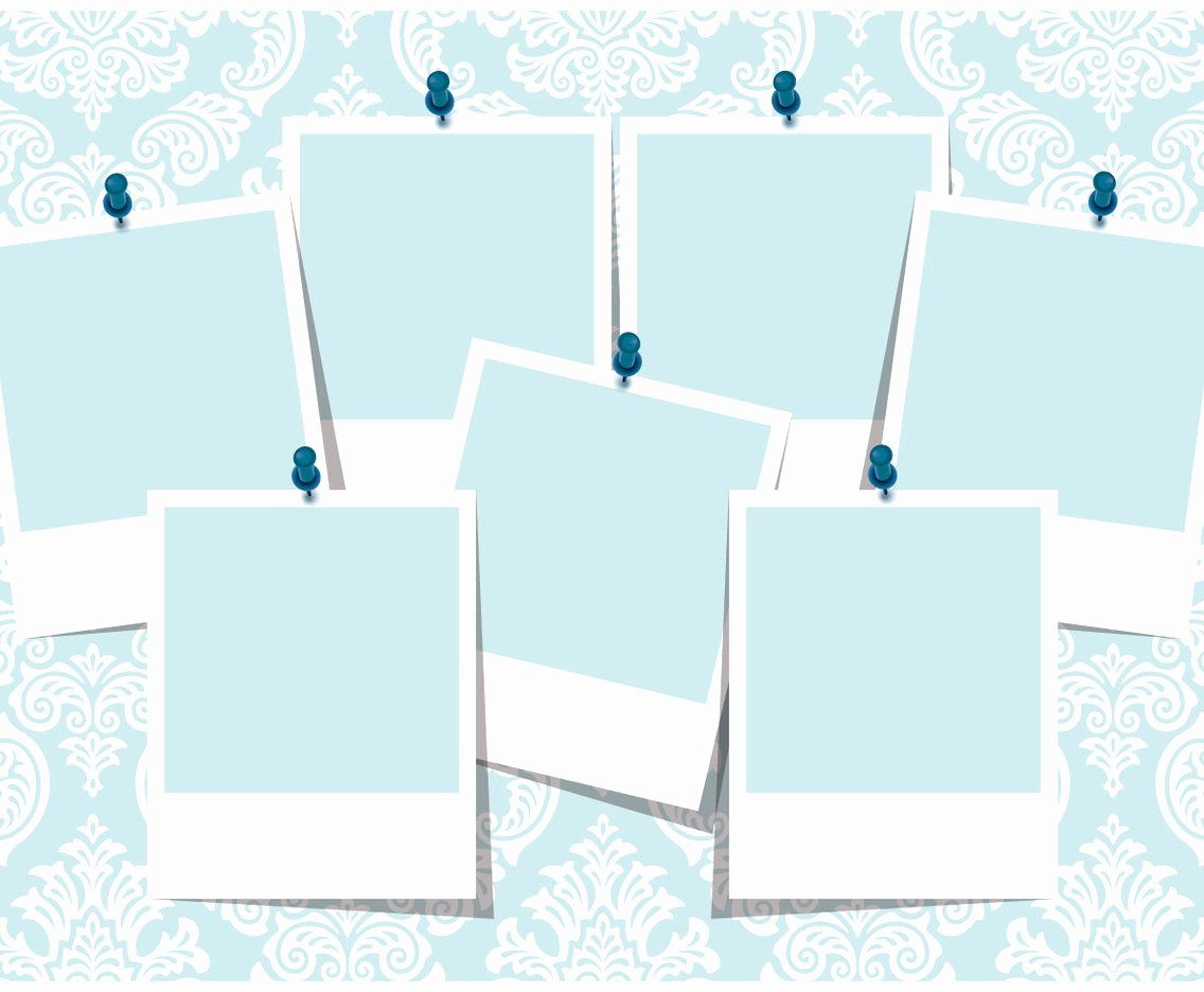 Picture Frame Collage Template Fresh Blue Damask Collage Template Vector Art & Graphics