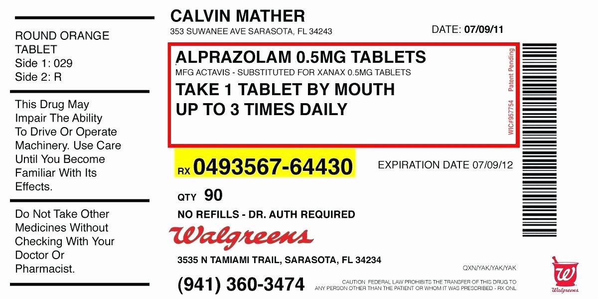 Pill Bottle Label Template Beautiful Free Printable Doc Medicine Bottle Prescription Labels