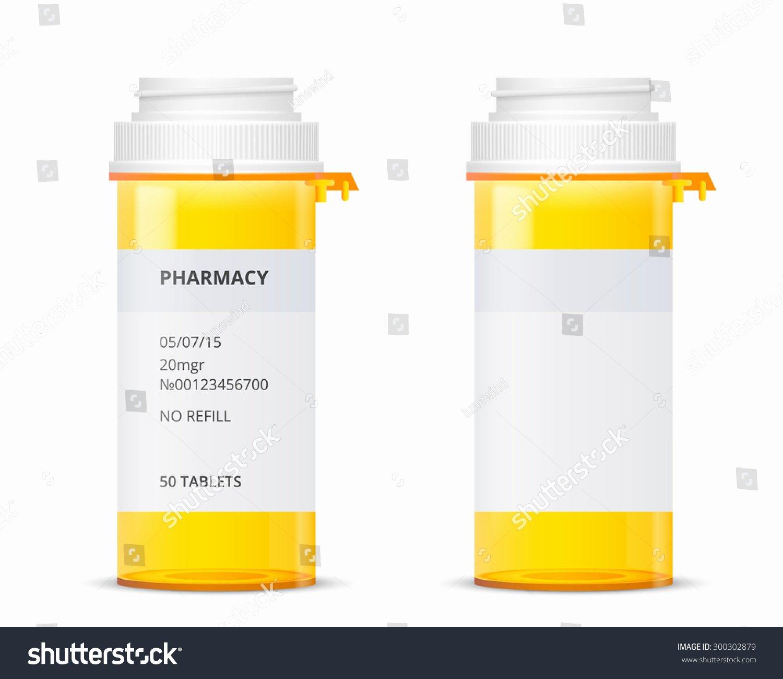 bottle prescription pill labels template vector