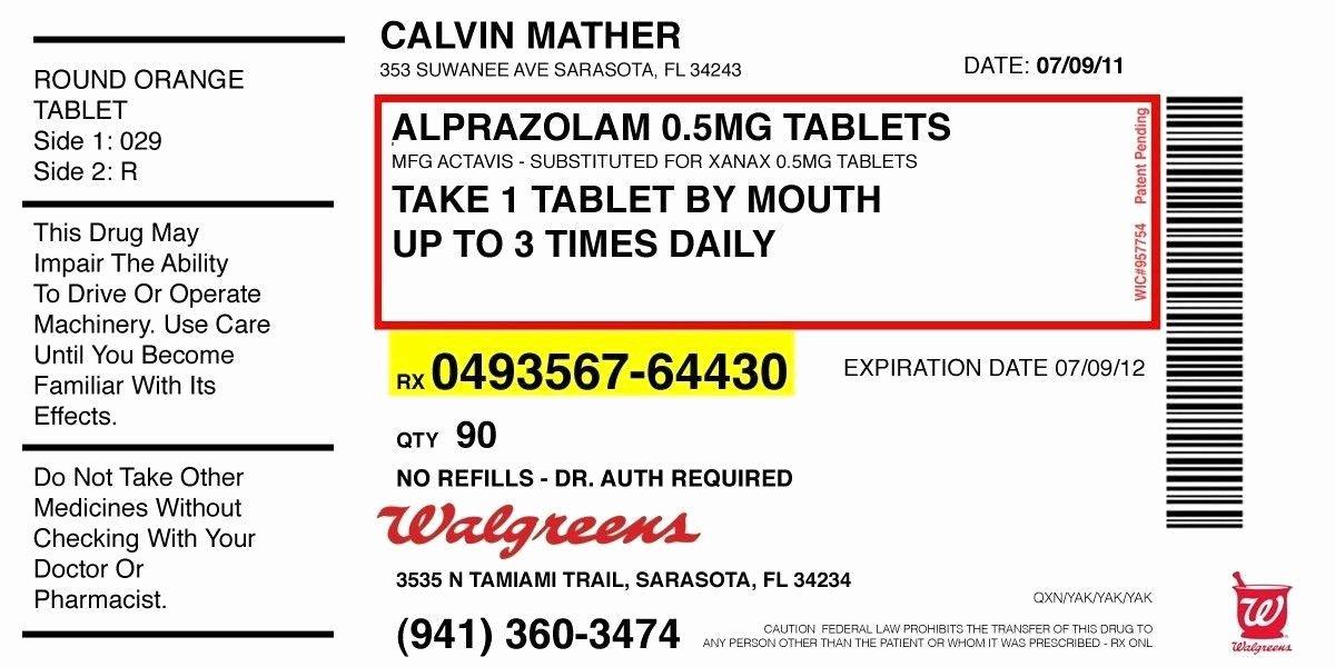Pill Bottle Label Template Elegant Pill Bottle Label Template Prescription Label Template