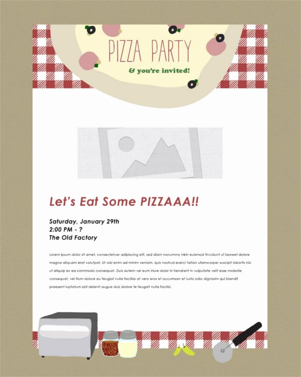Pizza Party Invitation Template Beautiful 27 Email Invitation Templates Psd Vector Eps Ai