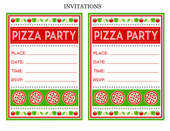 Pizza Party Invitation Template Fresh Free Pizza Party Printables From Printabelle