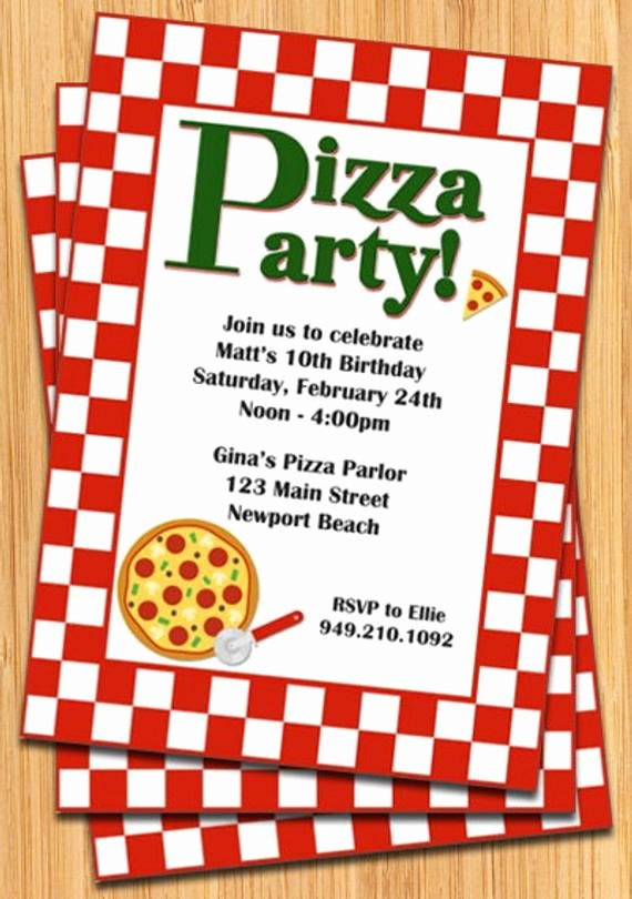 Pizza Party Invitation Template Inspirational Pizza Party Invitation by eventfulcards On Etsy