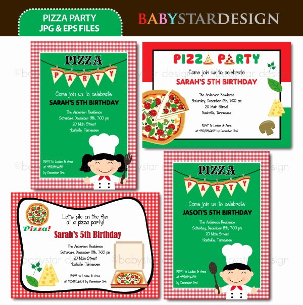 Pizza Party Invitations Template Beautiful Pizza Party Invitation Template Free