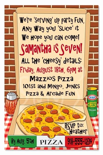 Pizza Party Invitations Template Beautiful Pizza Party Invite Birthday Party Ideas
