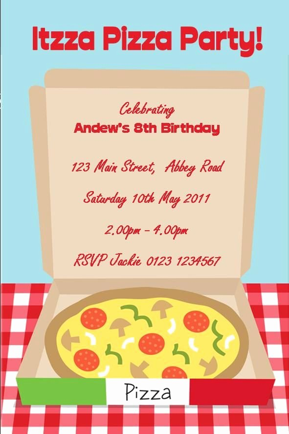 Pizza Party Invitations Template Best Of 58 Best Party Invitations Images On Pinterest