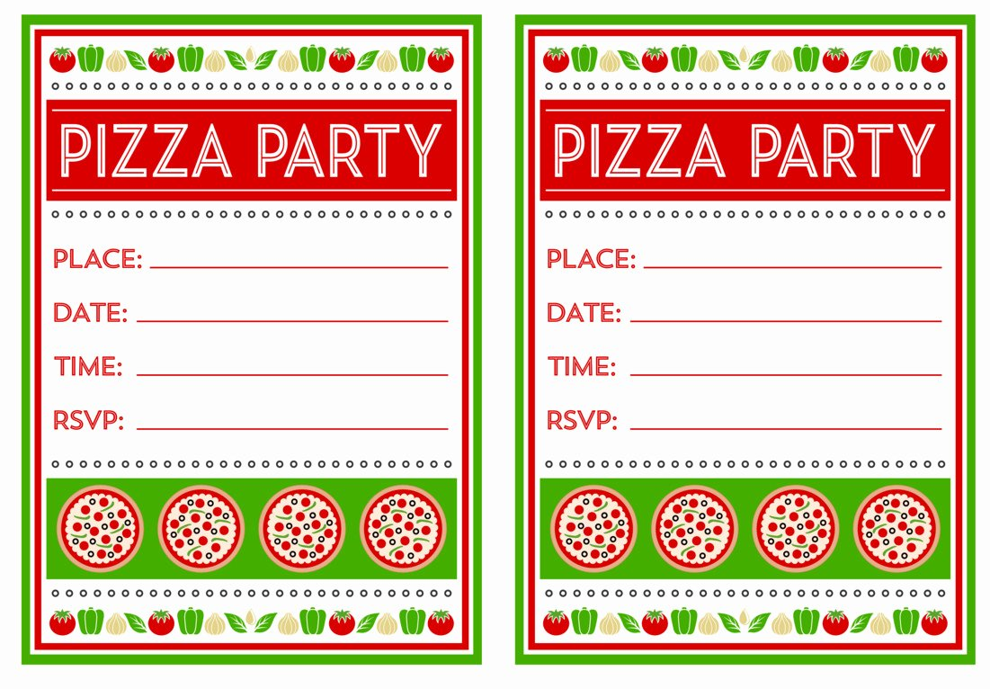 Pizza Party Invitations Template Best Of Pizza Birthday Party Idea for Your Kids