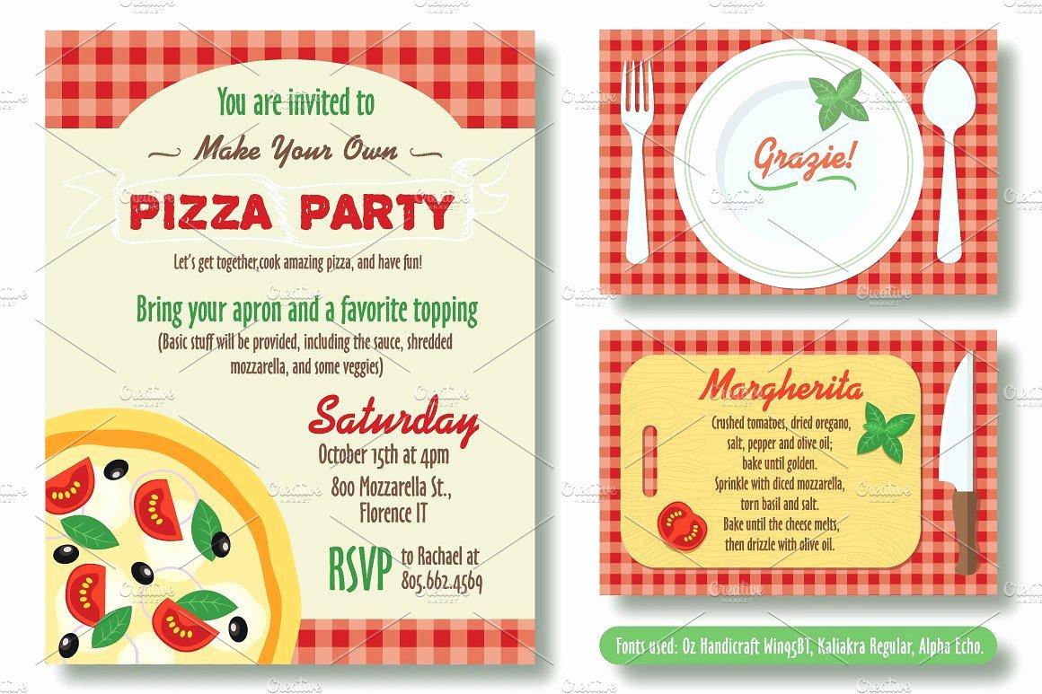 Pizza Party Invitations Template Elegant Editable Pizza Party Invitation Invitation Templates