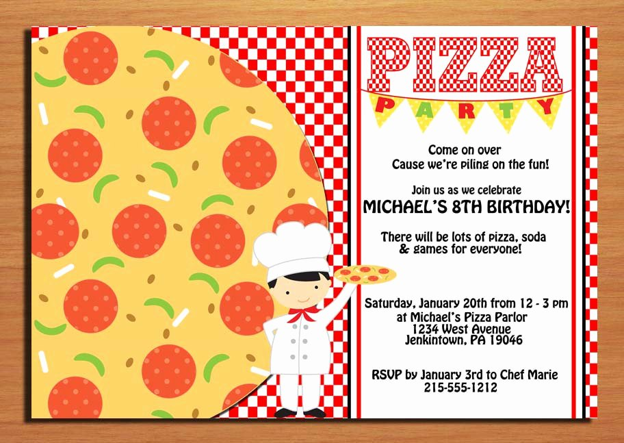 Pizza Party Invitations Template Fresh Free Printable Pizza Party Invitation Template Affordable