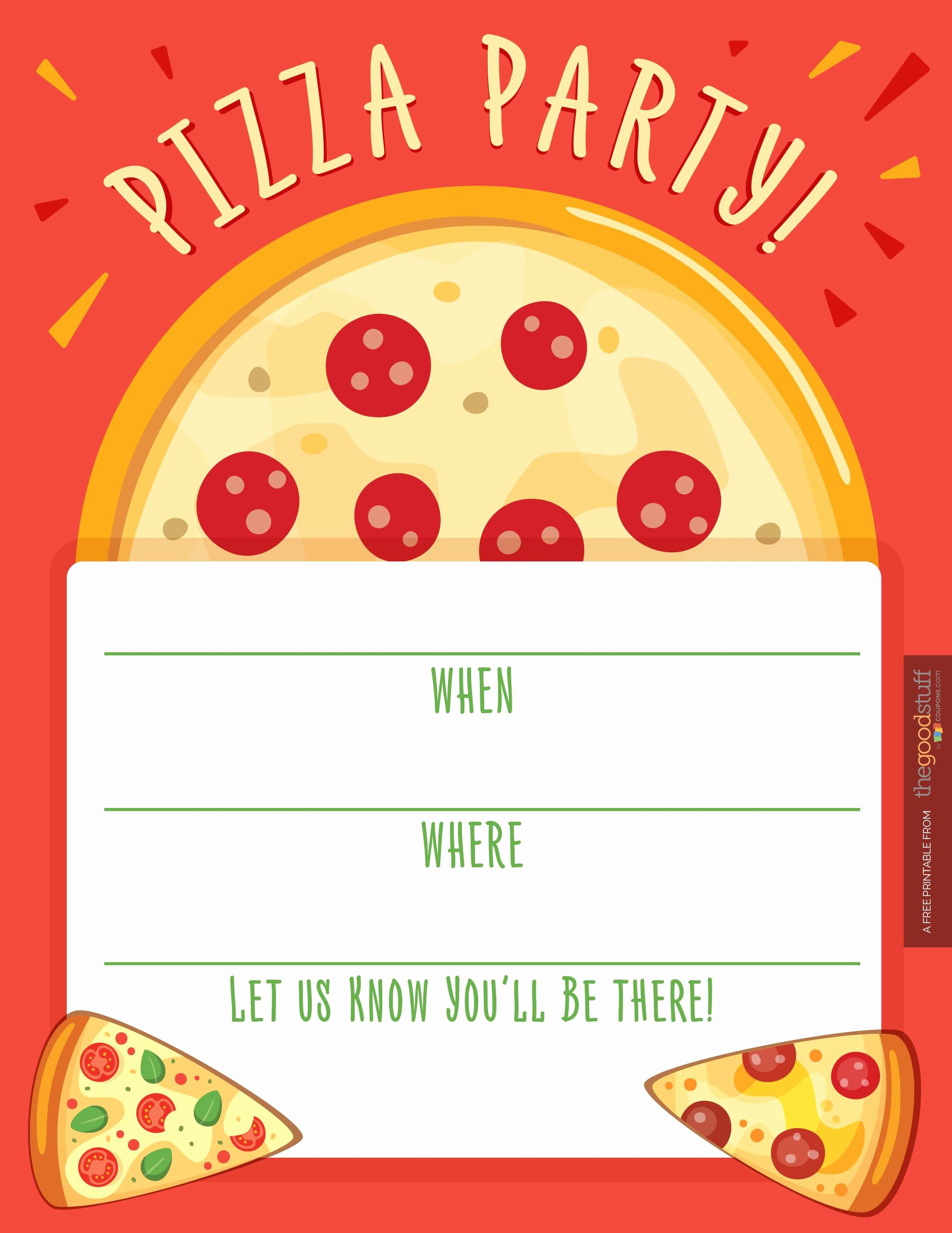 Pizza Party Invitations Template Lovely Pizza Party Invitations