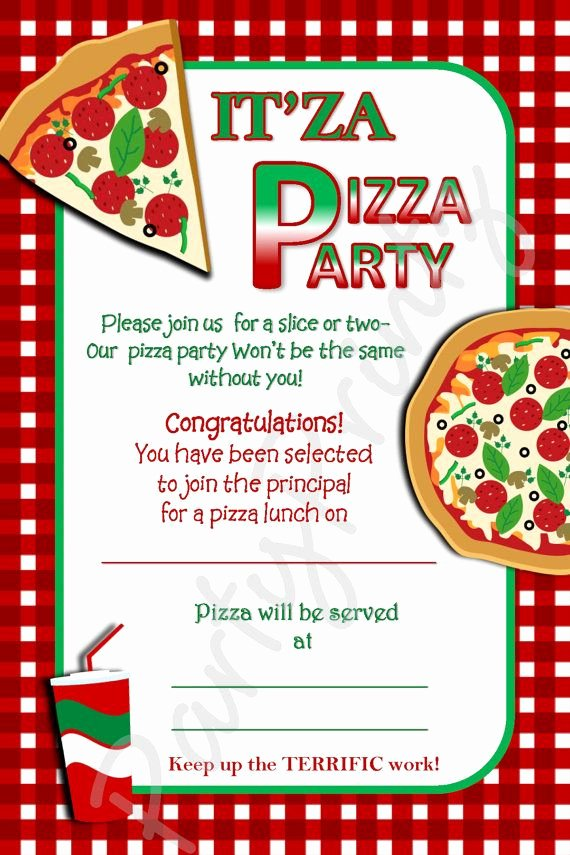 Pizza Party Invitations Template Luxury Free Printable Pizza Party Invitation Template