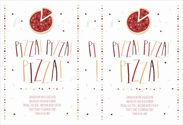 Pizza Party Invitations Template New 47 Free Flyer Templates
