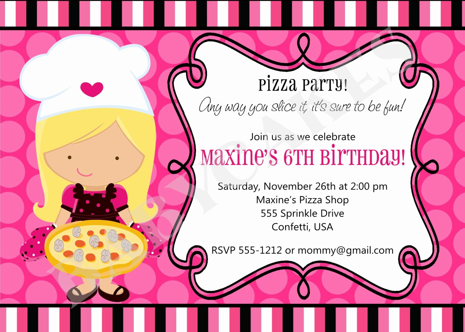 Pizza Party Invitations Template New Printable Pizza Party Invitations