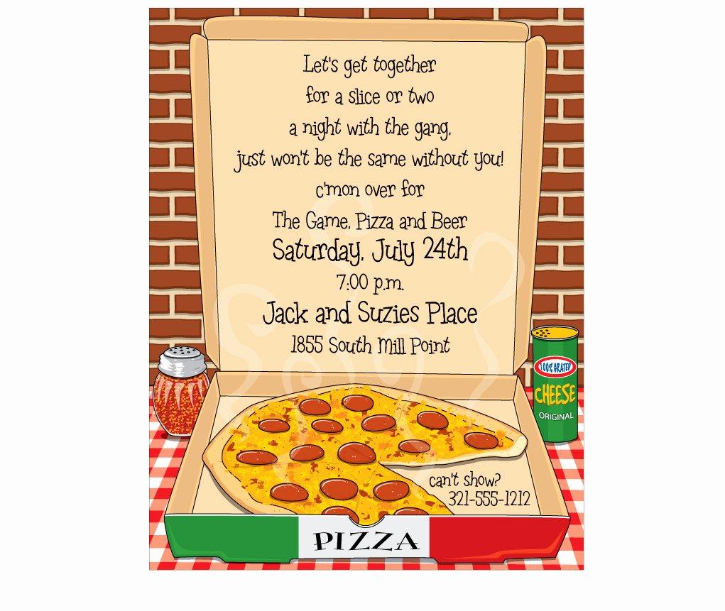 Pizza Party Invite Template Beautiful Pizza Party Invitation