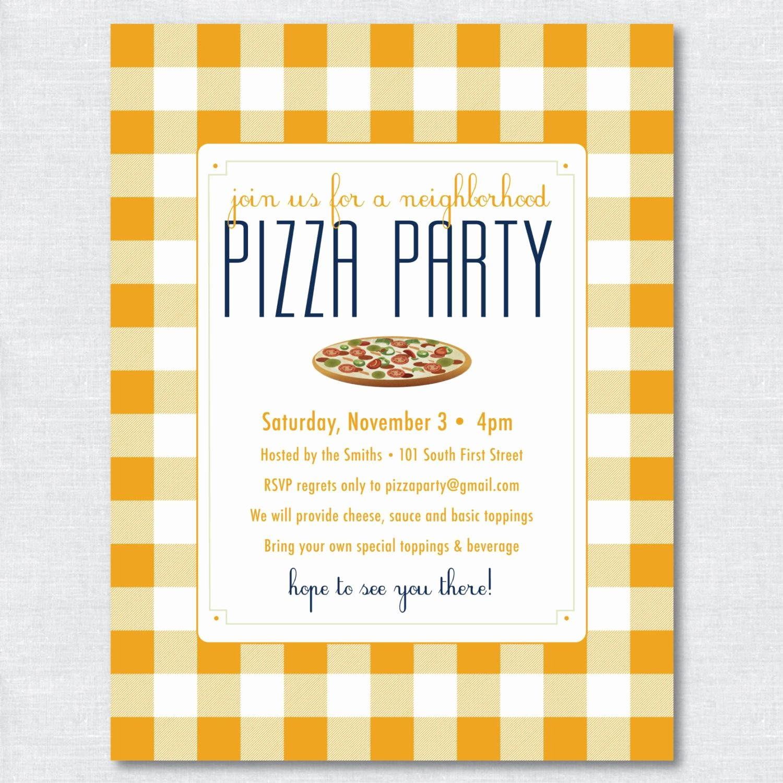 Pizza Party Invite Template Beautiful Pizza Party Invitations