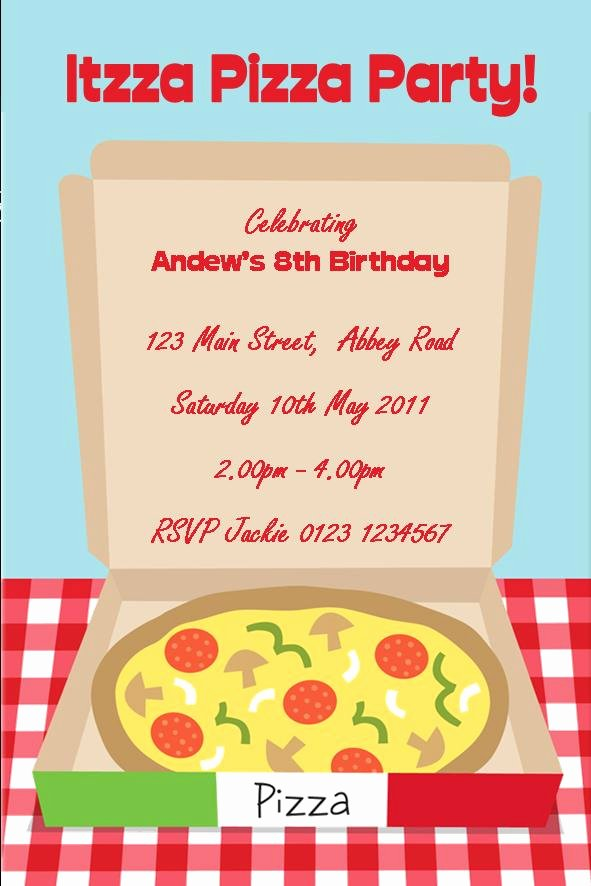 Pizza Party Invite Template Best Of Pizza Party Invitation Pizza Party Invitation for Creating