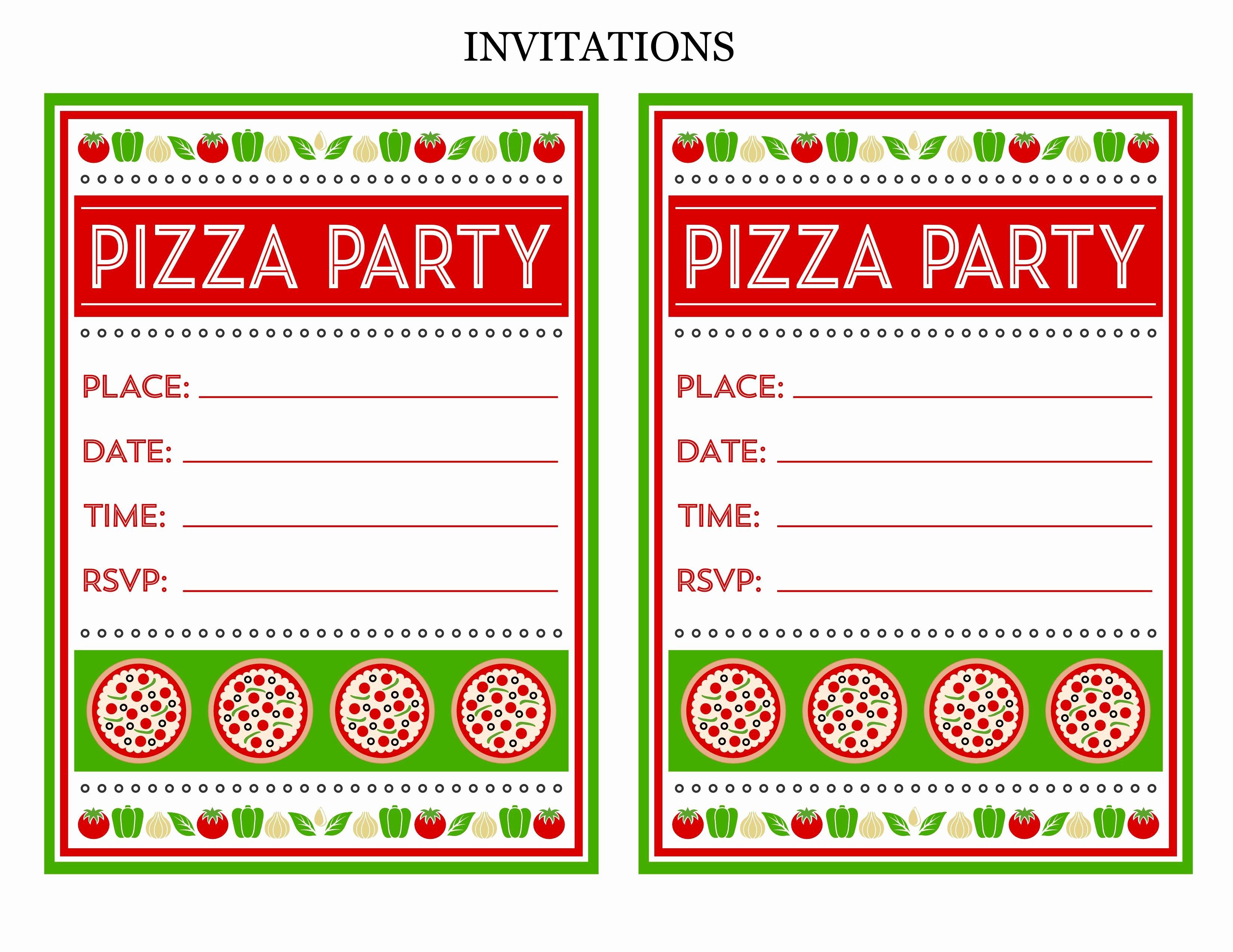 Pizza Party Invite Template Fresh Free Pizza Party Invitation Template Recent Pizza Party