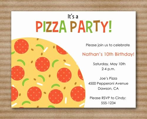 Pizza Party Invite Template Inspirational 1000 Images About Pizza Party On Pinterest