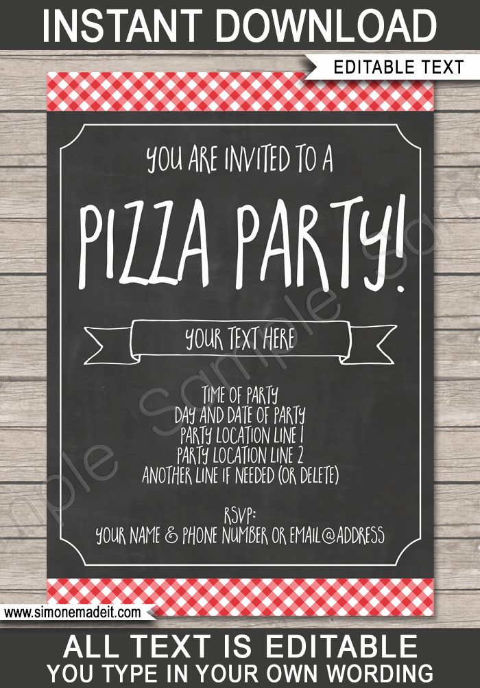 Pizza Party Invite Template Lovely Pizza Party Invitation Template