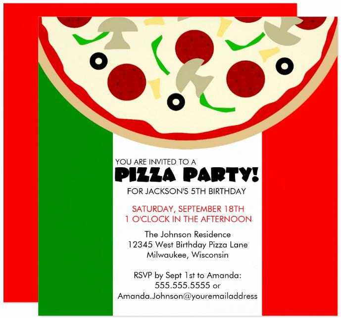 Pizza Party Invite Template Luxury 14 Pizza Party Invitation Designs & Templates Psd Ai